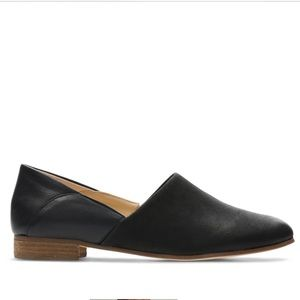 CLARKS | Black Pure Tone Suede Leather Loafer 8.5